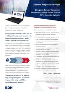 DRPro Knowledge Application - Emergency Curtailment